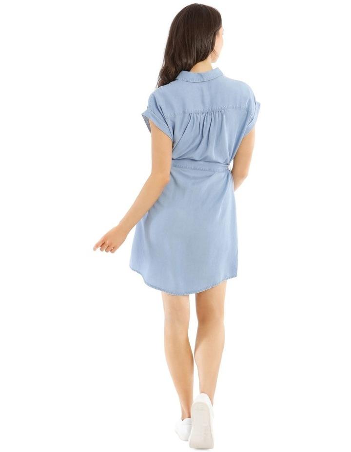 Chambray Shirt Dress image 3