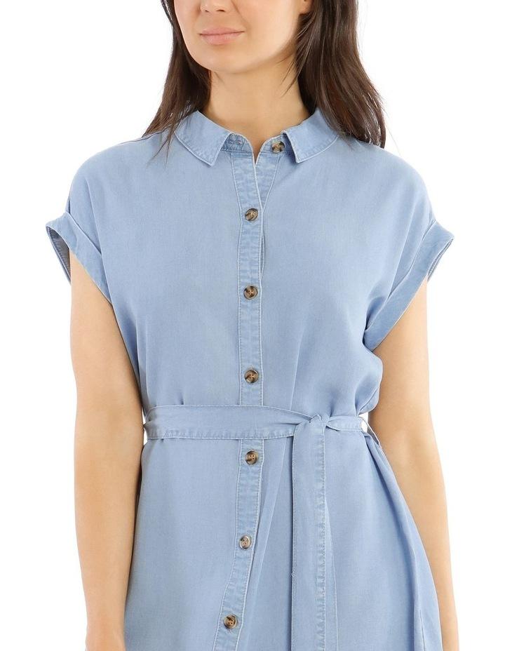 Chambray Shirt Dress image 4
