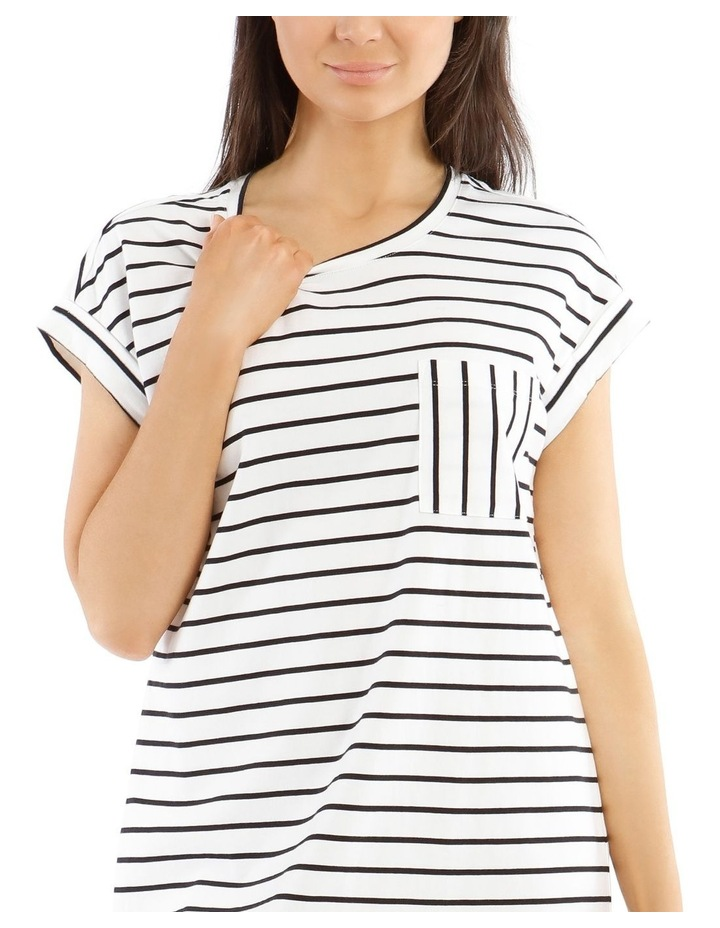 Striped Scoop Hem T-Shirt image 4