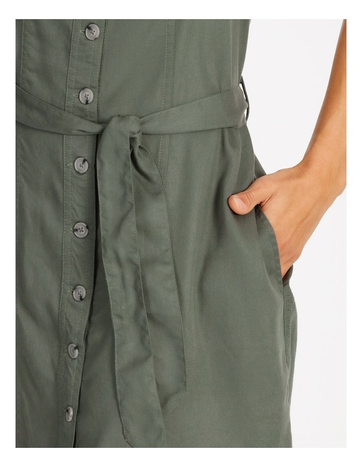Button Through Denim Dress image 4