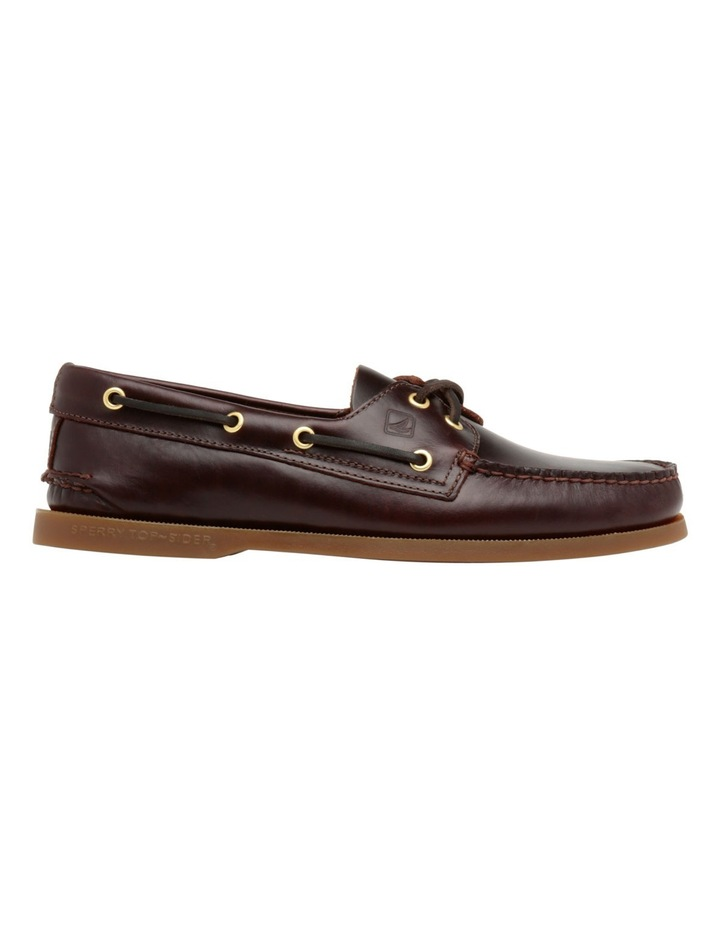 Authentic 2 Eye Boat Shoe- Amaretto image 1