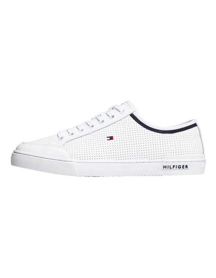 Leather Perforated Trainers image 1