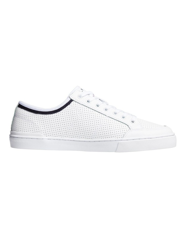 Leather Perforated Trainers image 2