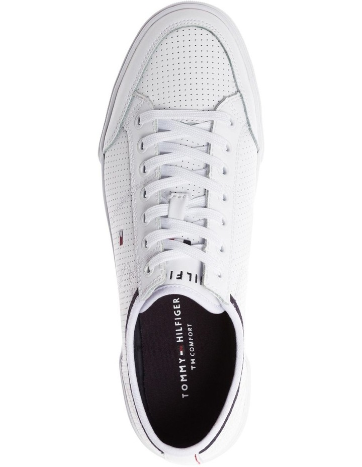 Leather Perforated Trainers image 3