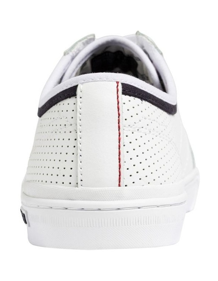 Leather Perforated Trainers image 5