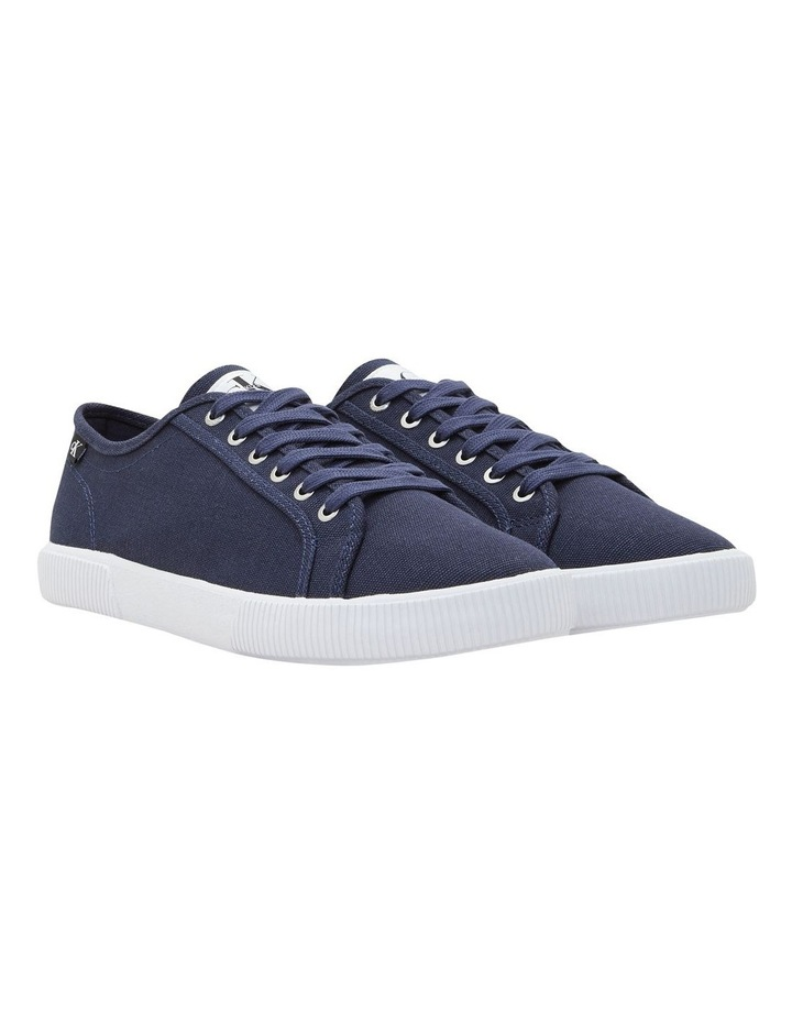 Textile Laceup Sneaker Navy image 2