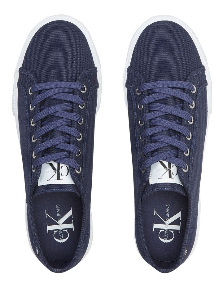Textile Laceup Sneaker Navy image 3