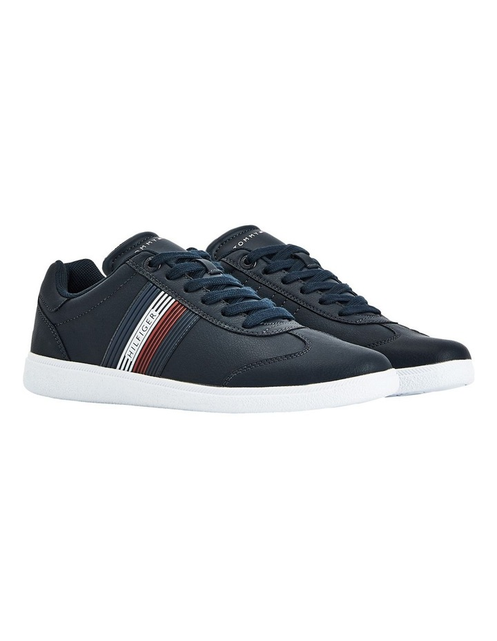 Core Corporate Leather Navy Cupsole Sneaker image 1