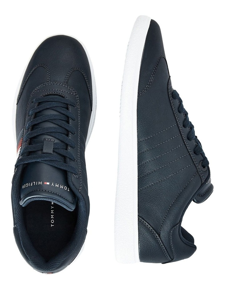 Core Corporate Leather Navy Cupsole Sneaker image 2