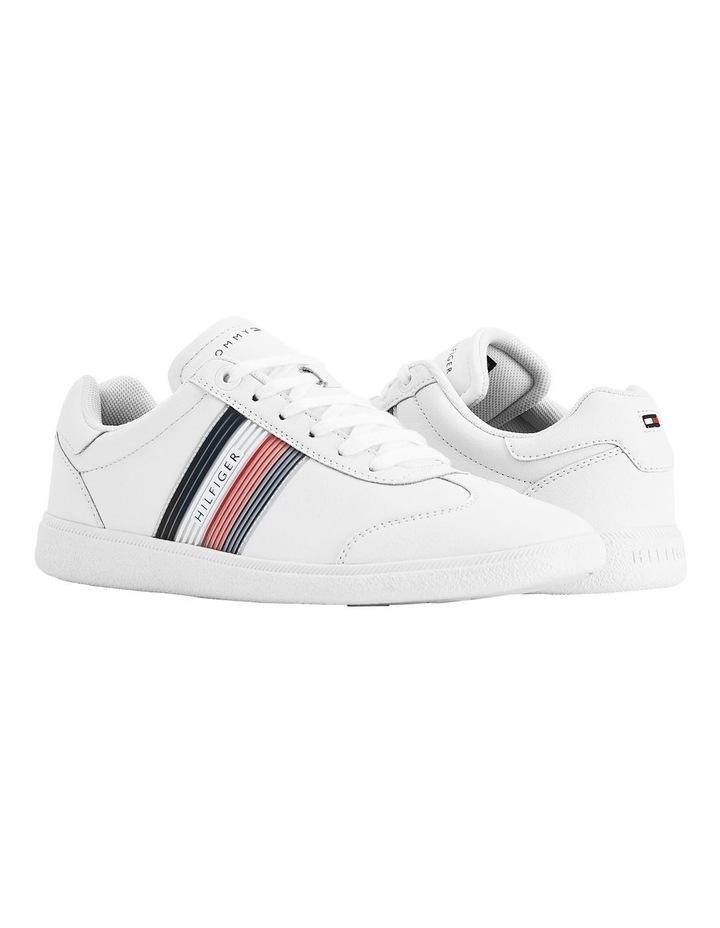 Core Corporate Leather White Cupsole Sneaker image 4