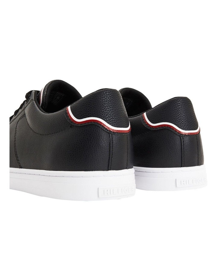 Essential Leather Trainers Black image 2