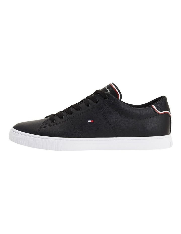 Essential Leather Trainers Black image 5