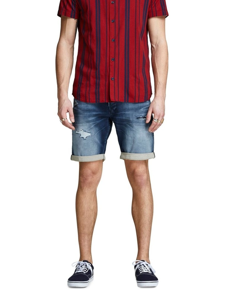Rick Dark Blue Denim Shorts image 1