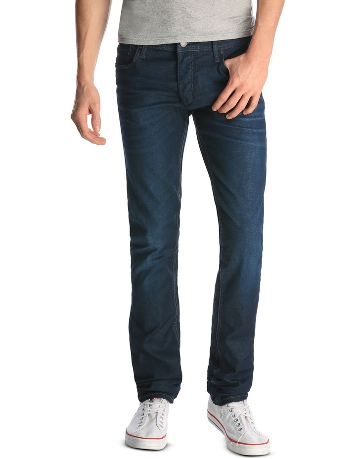 Slim Fit Mens Jack /& Jones Tim Original Jeans In Denim Narrow Leg Button Fly