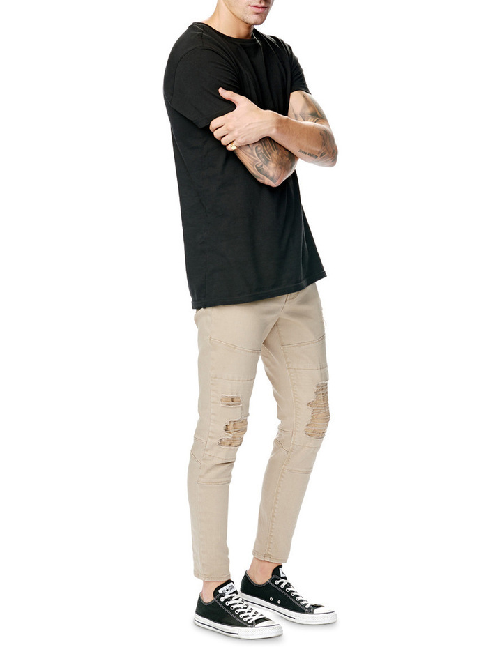 A Dropped Skinny Turn Up Jean image 3