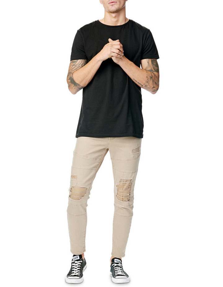 A Dropped Skinny Turn Up Jean image 4