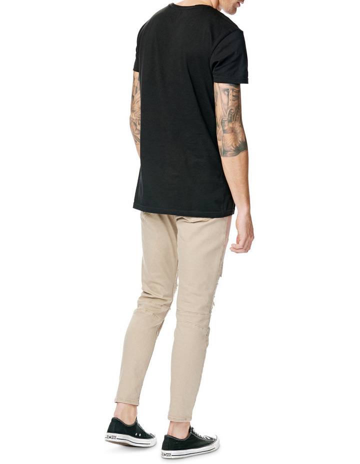 A Dropped Skinny Turn Up Jean image 5