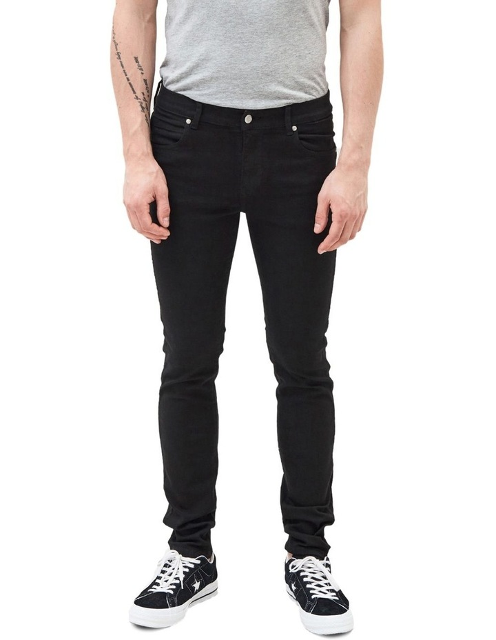 SNAP SKINNY JEANS image 1