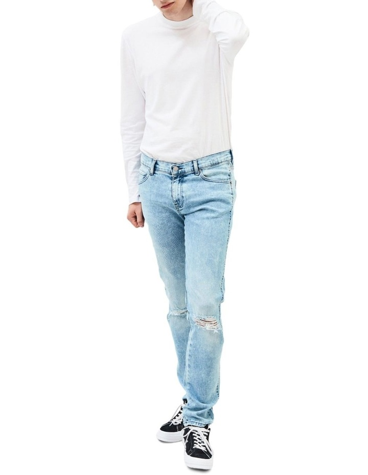 SNAP SKINNY JEANS image 3