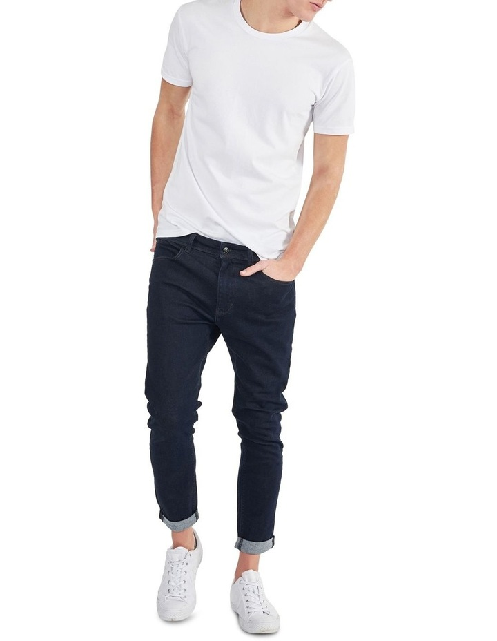 A DROPPED SKINNY TURN UP JEANS image 3