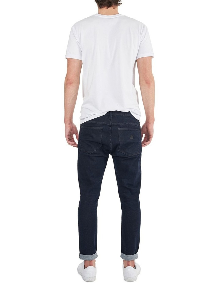 A DROPPED SKINNY TURN UP JEANS image 5