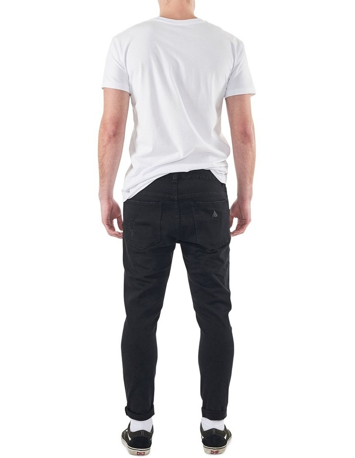 A Dropped Slim Turn Up Jeans image 1