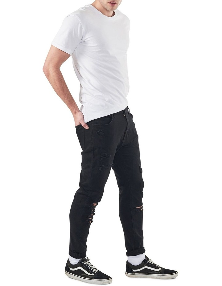 A Dropped Slim Turn Up Jeans image 2