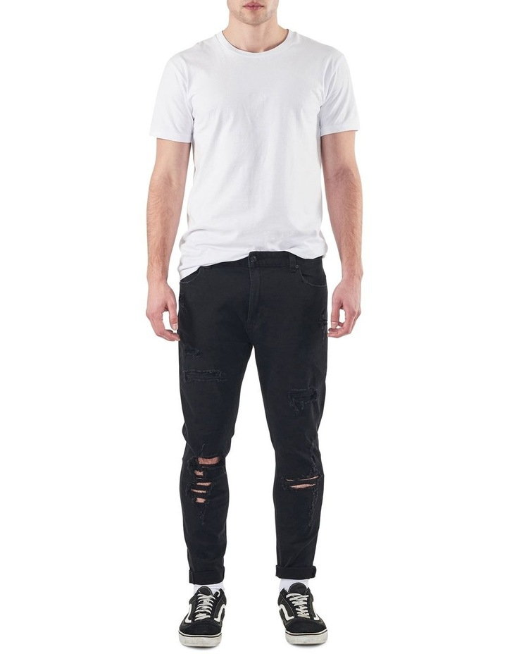 A Dropped Slim Turn Up Jeans image 3