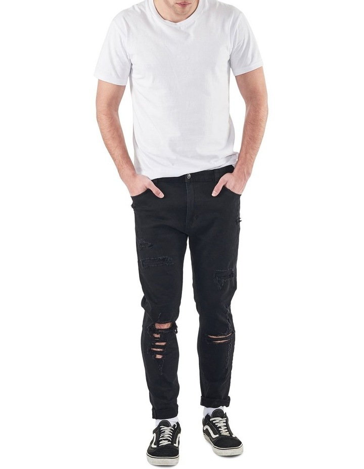 A Dropped Slim Turn Up Jeans image 4