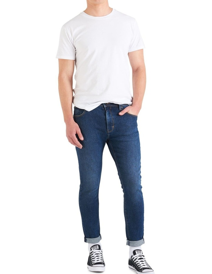 A Dropped Skinny Turn Up Jeans image 1