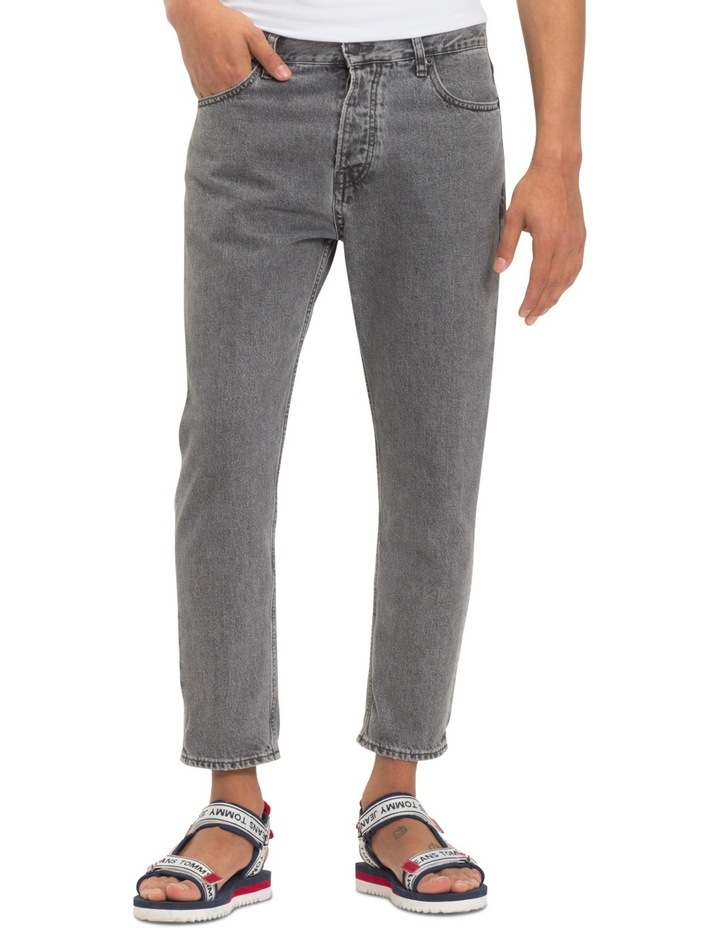 Relaxed Fit Cropped Denim Jeans image 1