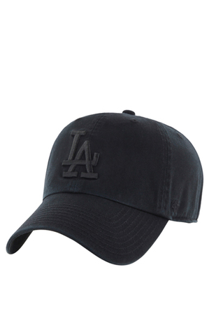 47 Headwear - La Dodgers Tonal Black '47 Clean Up