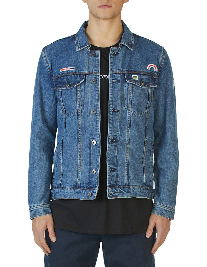 B.Rigid Denim Jacket Embo Blue Stone image 1