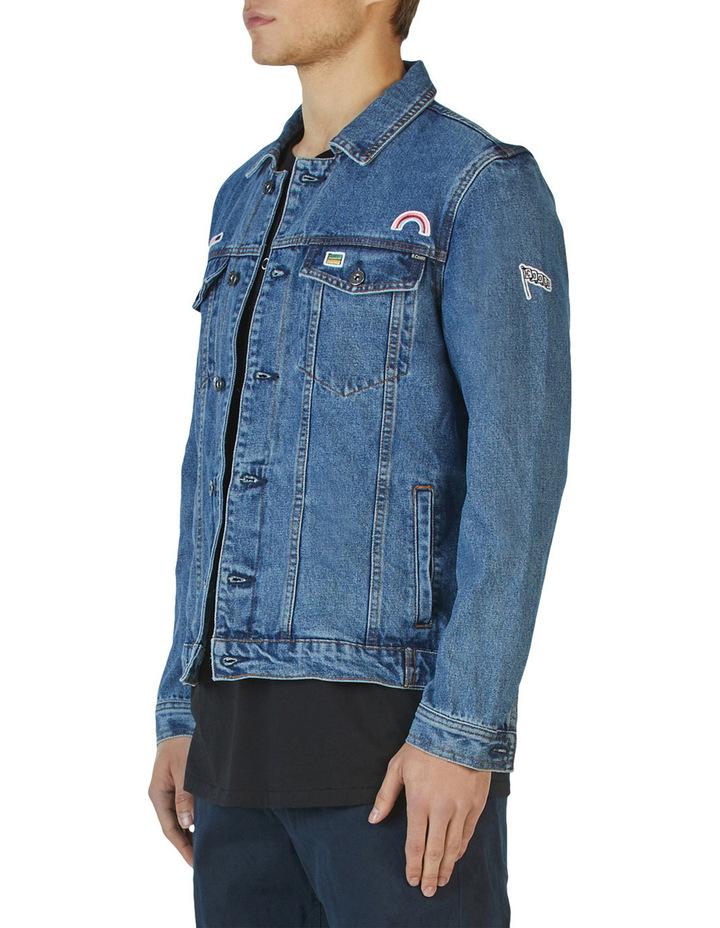 B.Rigid Denim Jacket Embo Blue Stone image 4