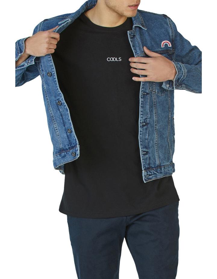 B.Rigid Denim Jacket Embo Blue Stone image 5