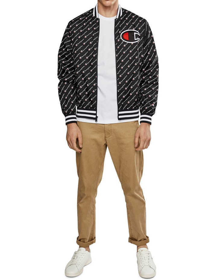 SATIN BASEBALL JACKET image 1
