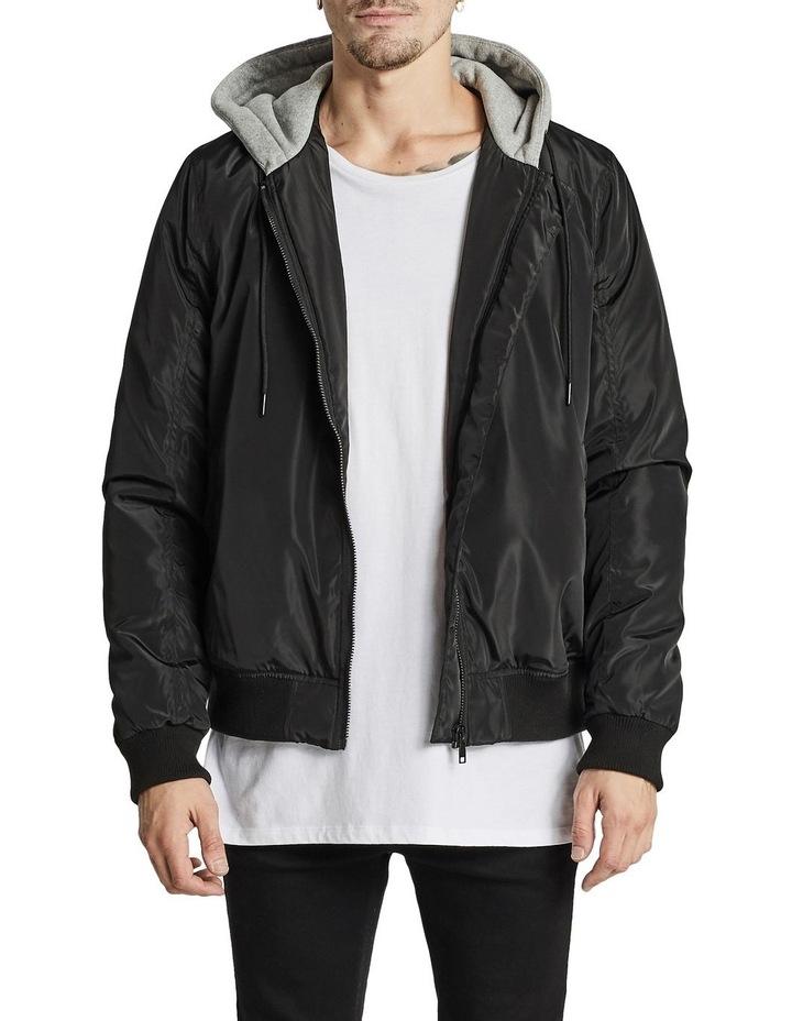 Hazard Hooded Bomber Jacket image 1