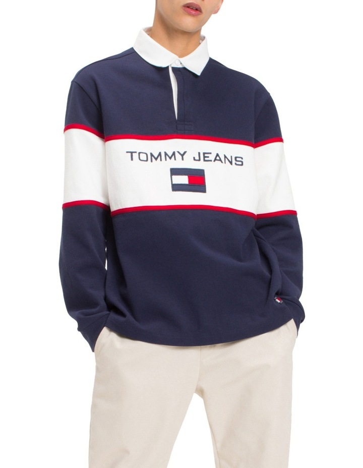 7ff51fe4d5b Tommy Jeans | 90s Logo Rugby Top | MYER