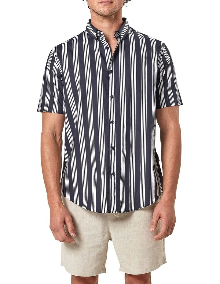 Short Sleeve Veritcal Stripe Shirt image 1