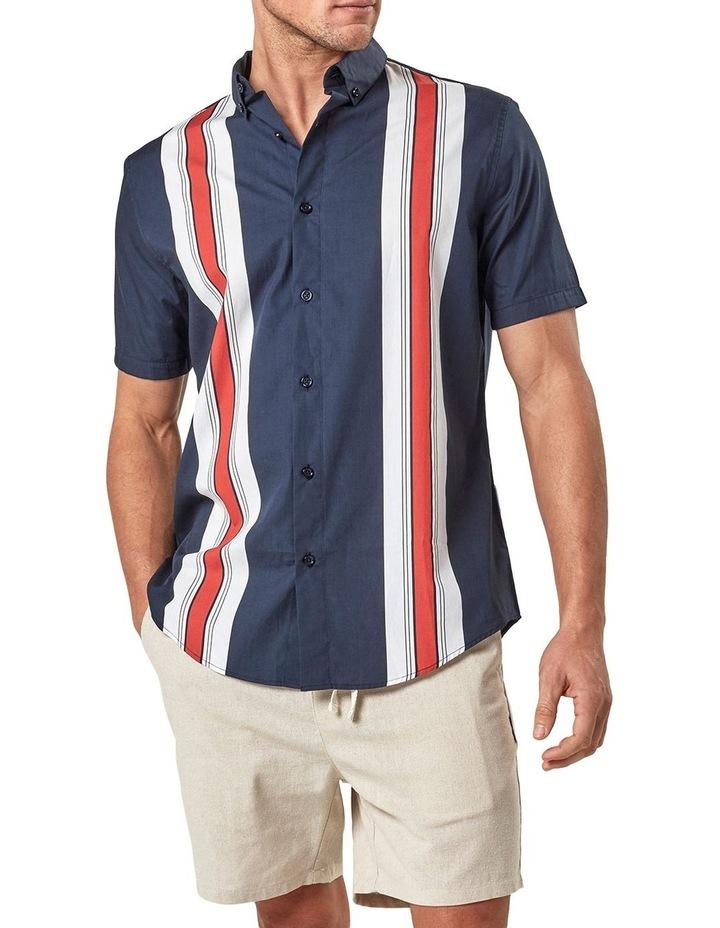 Short Sleeve Engineered Stripe Shirt image 3