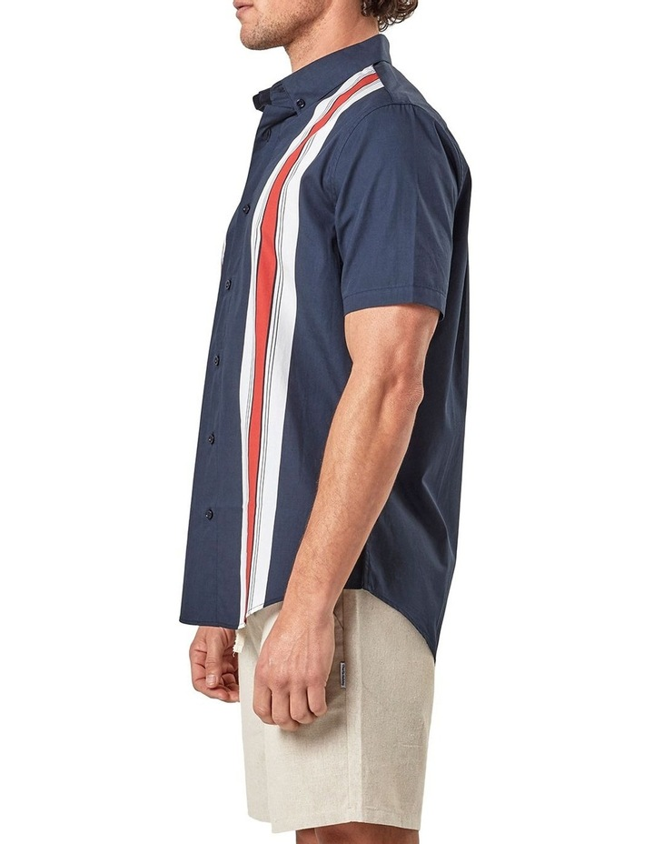 Short Sleeve Engineered Stripe Shirt image 4