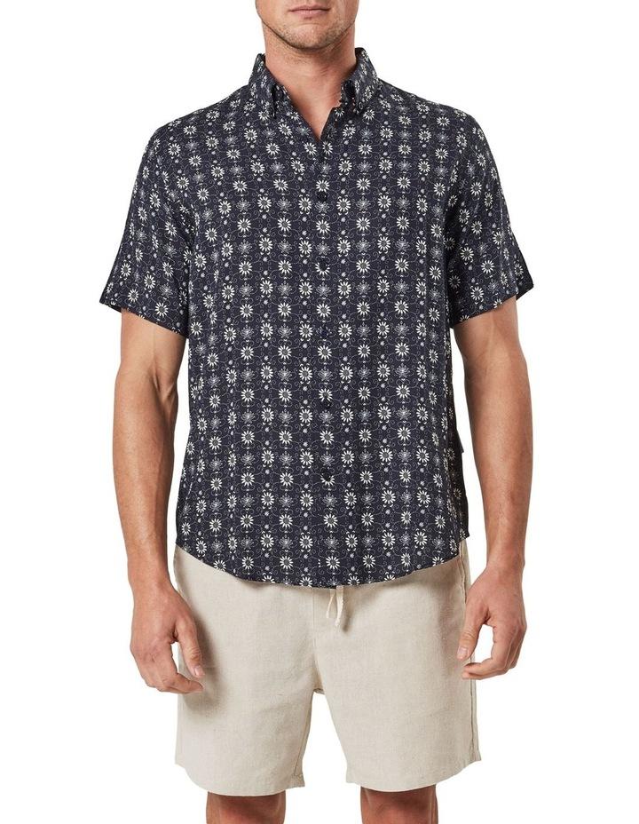 Floral Pattern Camp Collar Short Sleeve Shirt image 1