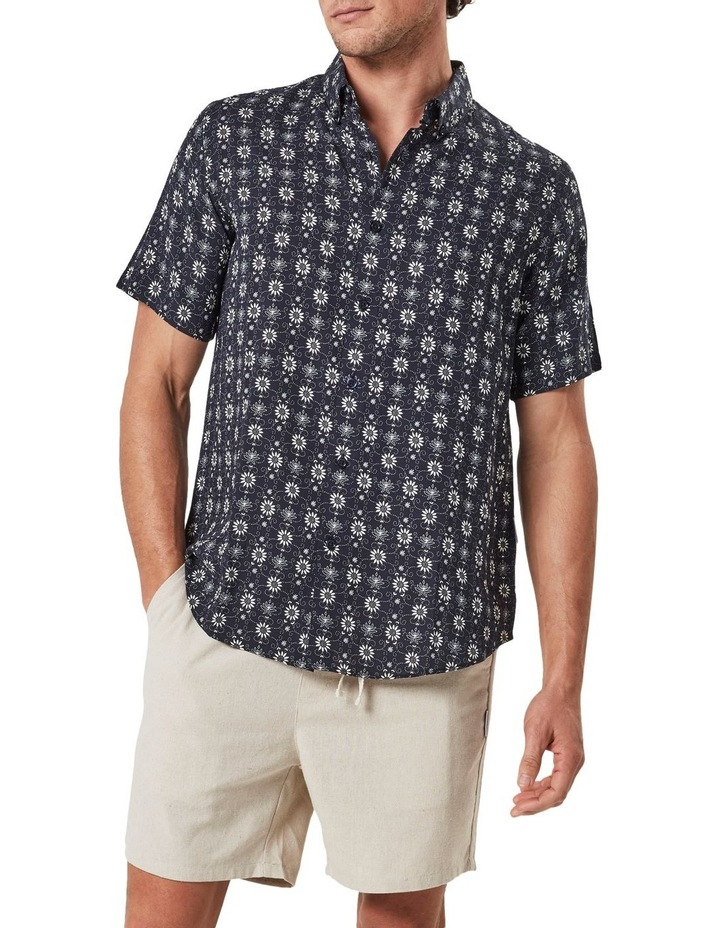 Floral Pattern Camp Collar Short Sleeve Shirt image 3