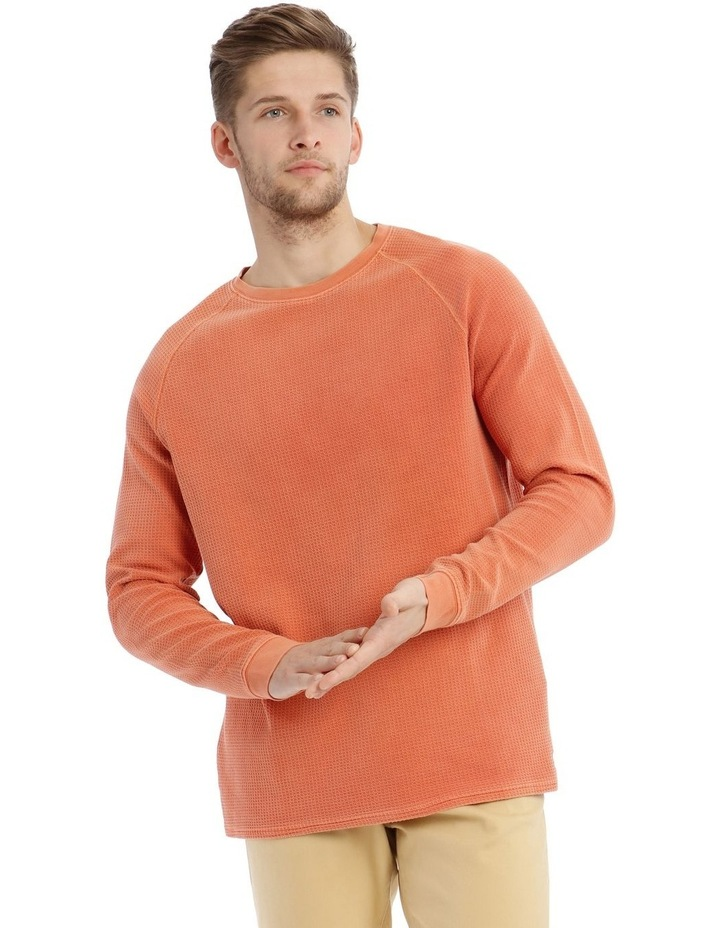 Preston Fleece Crew-Neck Sweater - Rust image 1