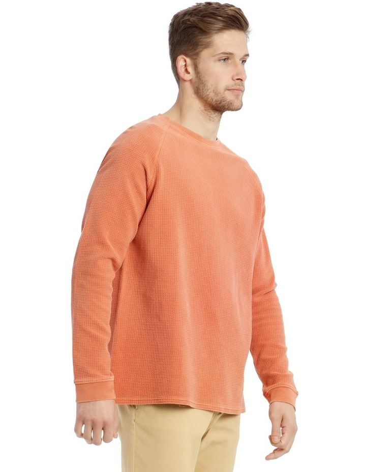 Preston Fleece Crew-Neck Sweater - Rust image 2