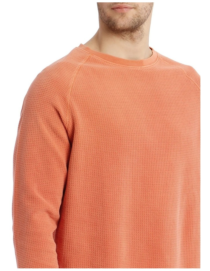 Preston Fleece Crew-Neck Sweater - Rust image 4