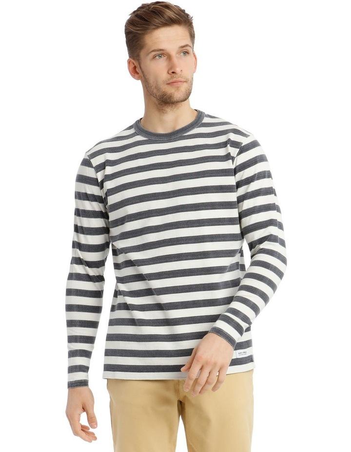 Lochie Fleece Crew-Neck Sweater - Dirty Denim image 1