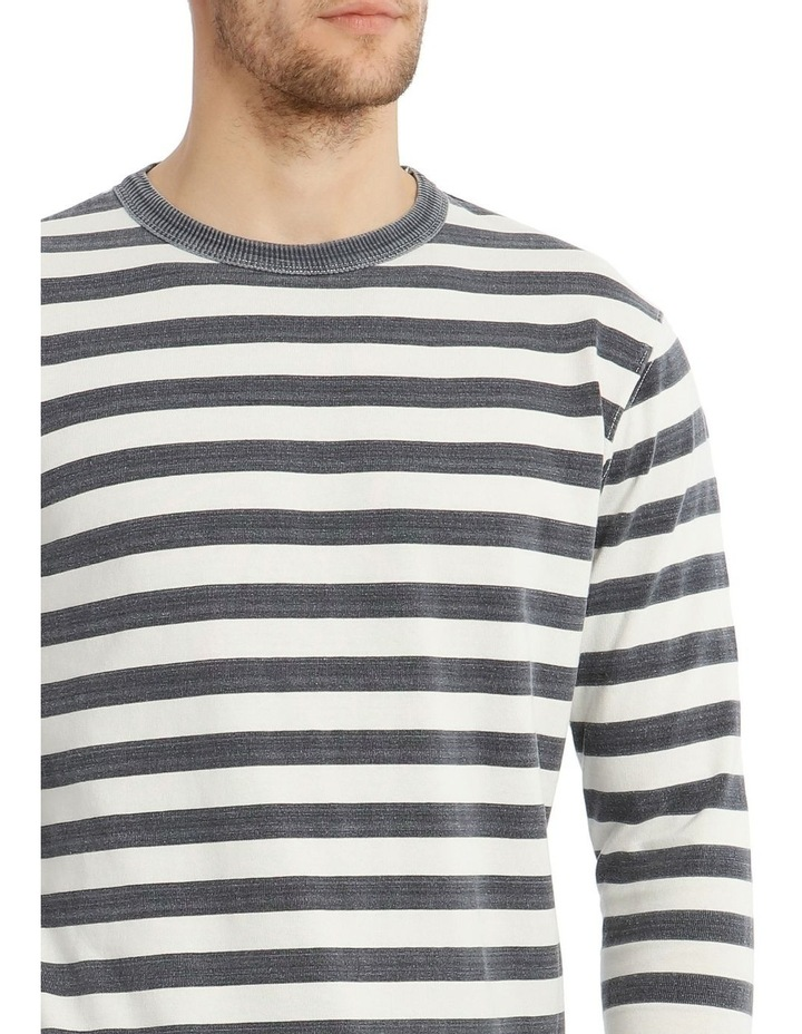 Lochie Fleece Crew-Neck Sweater - Dirty Denim image 4