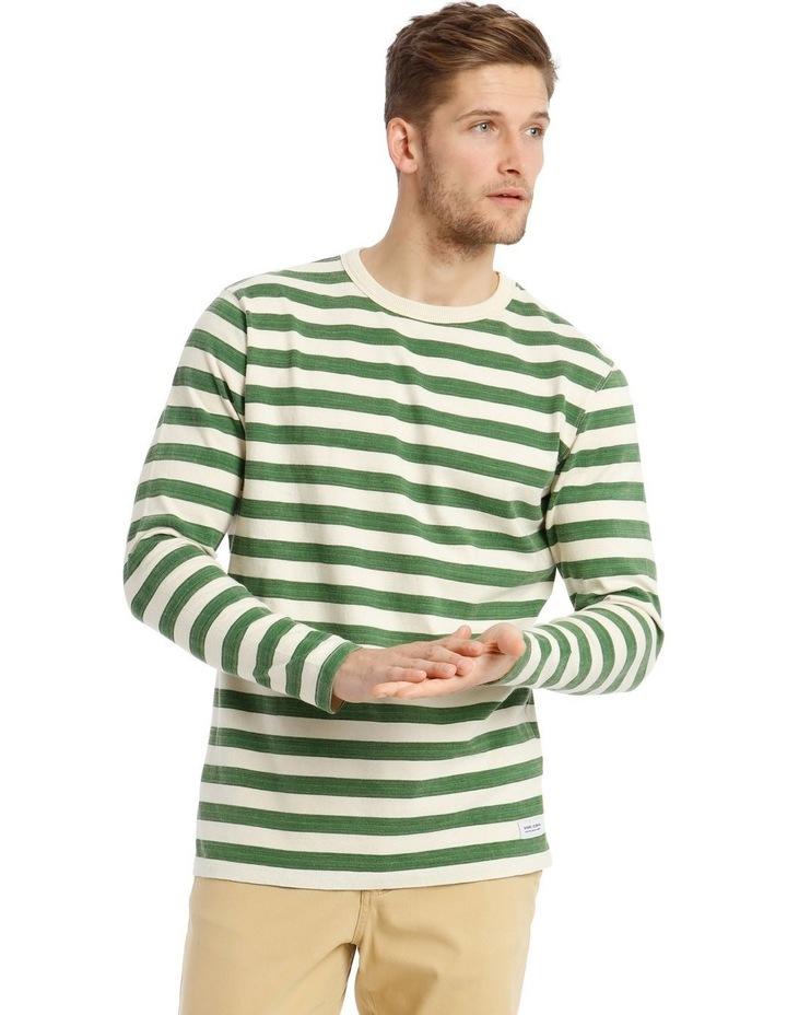 Lochie Fleece Crew-Neck Sweater - Basil image 1