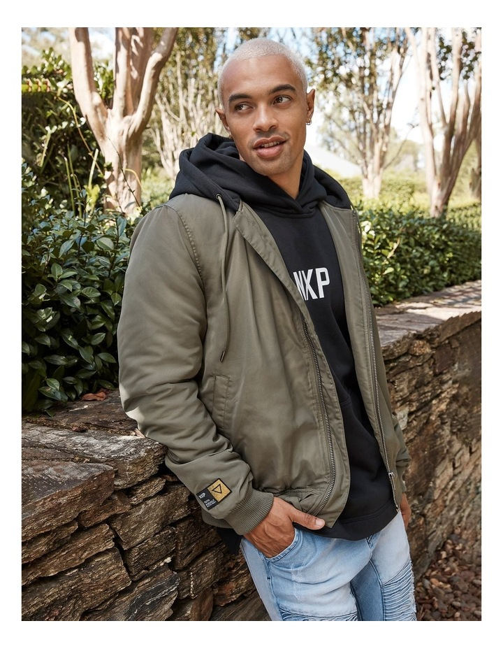 Become The Thunder Step Hem Hooded Sweater image 2